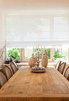 Perfect Roman Shades, Santa Clarita Dining Room